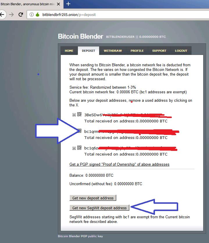 BitBlender now offers SegWit & Bech32 (bc1) addresses